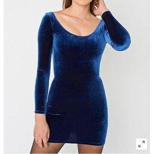American Apparel Royal Blue Velvet Dress